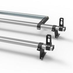 Aluminium Fiat Doblo Roof Rack Aero-Pro 2 bar with load stops and roller 2010 On model (DM501LS+A30)