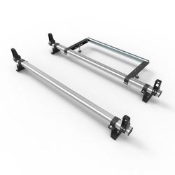 Aluminium Nissan NV200 Roof Rack Aero-Pro 2 bar with load stops and roller (DM58LS+A30)