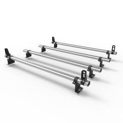 Ford Connect LWB 2014 On Aero-Pro 4 bar Load Stops Aluminium roof rack (DM122LS)