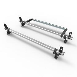 Ford Connect SWB 2014 On Aero-Pro 2 bar Aluminium roof rack load stops & roller (DM117LS+A30)