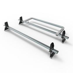 Nissan NV300 Aero-Tech 2 bar roof rack - load stops - rear roller (AT114LS+A30)