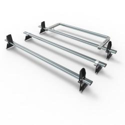 Nissan NV300 Aero-Tech 3 bar roof rack - load stops - rear roller (AT115LS+A30)