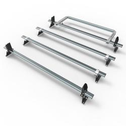 Nissan NV300 Aero-Tech 4 bar roof rack - load stops - rear roller (AT116LS+A30)
