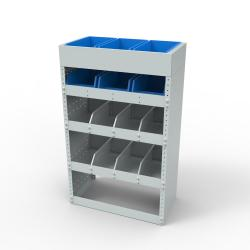 Steel modular van racking - Unit SBR8