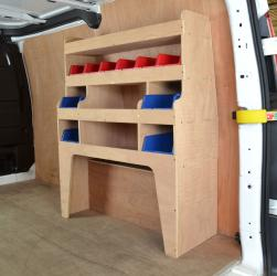 Transit Custom Plywood van racking / Shelving unit - WR42