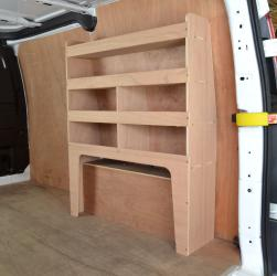 Transit Custom Plywood van racking / Shelving unit - WR53