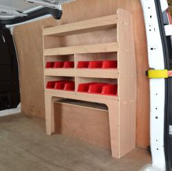 Transit Custom Plywood van racking / Shelving unit - WR54