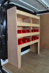 Transit Custom Plywood van racking / Shelving unit - WR58