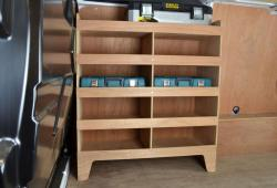 Transit Custom Plywood van racking / Shelving unit - WR59