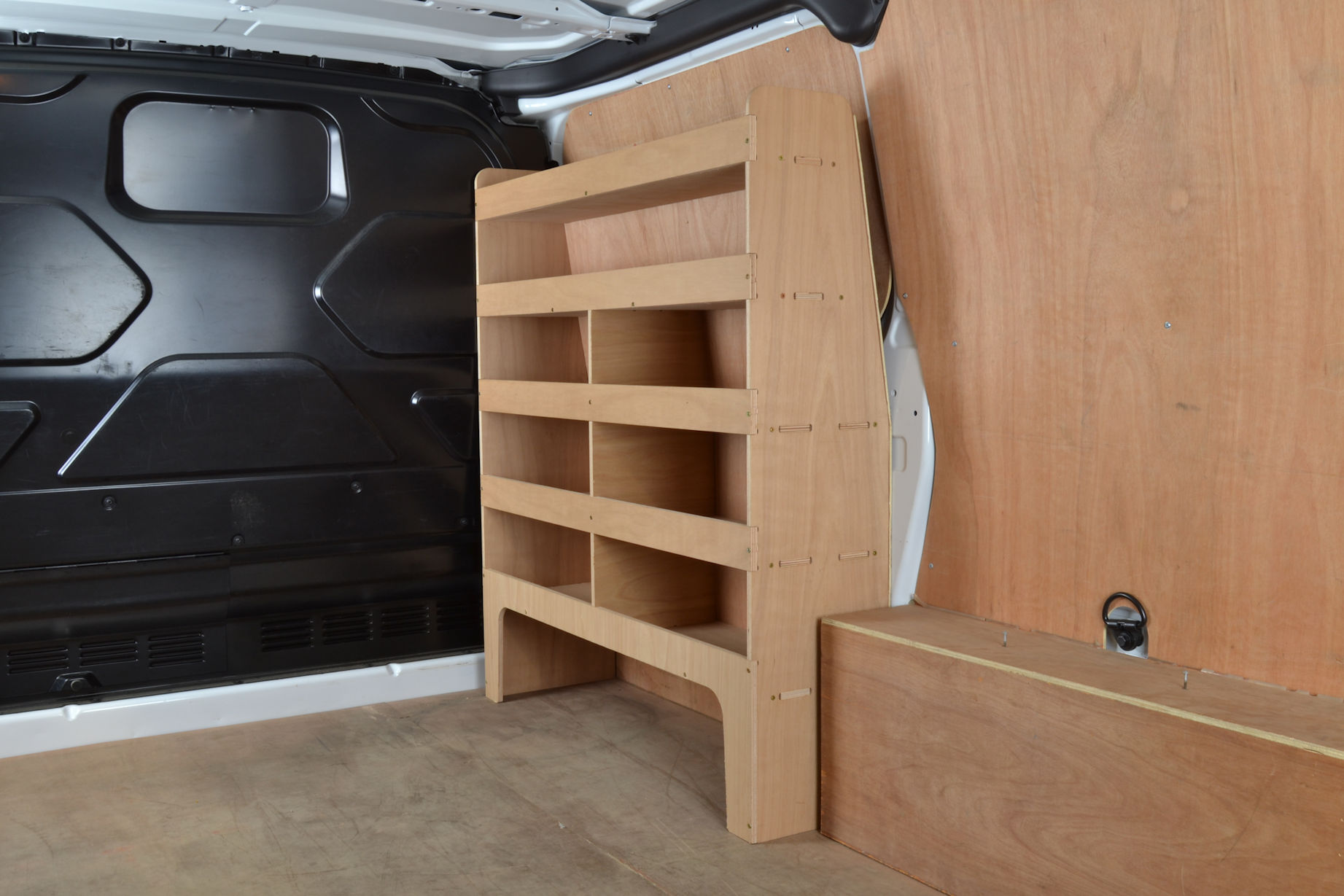 Van Roof Racks >> Transit Custom Plywood van racking / Shelving unit - WR47