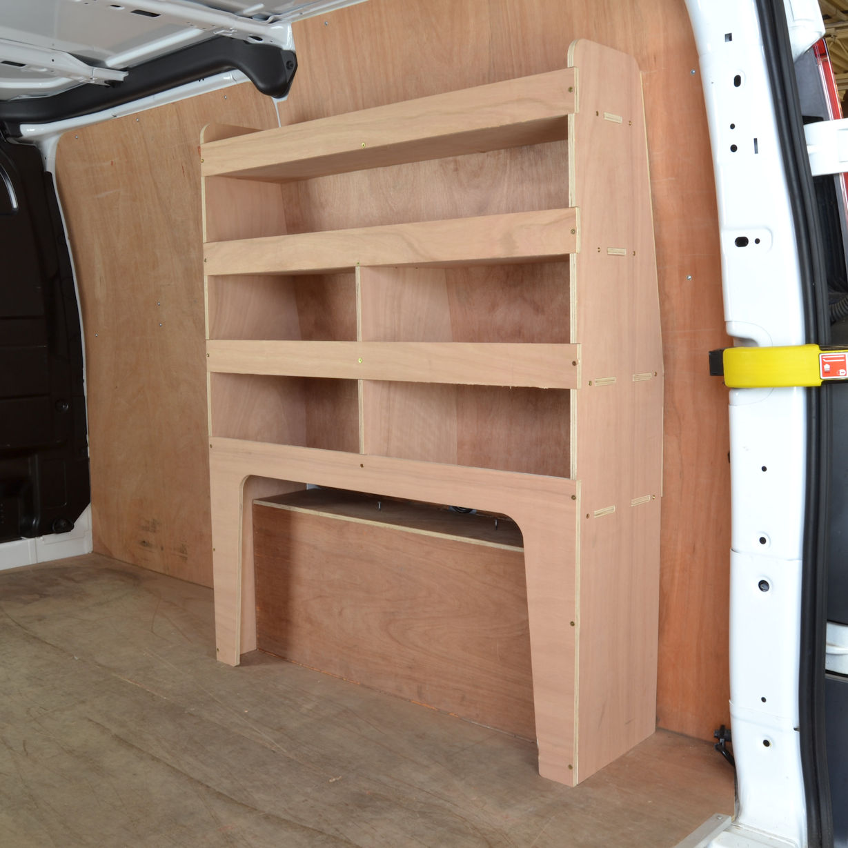 Transit Custom Plywood Van Racking Shelving Unit Wr53