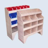 Timber van shelving