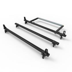 Citroen Dispatch (2007-2016) Dmar Stealth 3 bar Load Stops and Rear Roller Aluminium roof rack