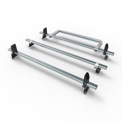 Fiat Doblo L1 Aero-Tech 3 bar roof rack - load stops - rear roller 2010 onwards model (AT502LS+A30)