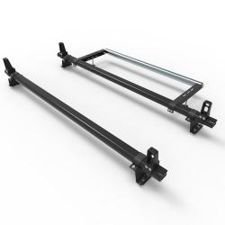 Ford Transit Custom Dmar Stealth 2 bar Aluminium roof rack load stops & roller (DM85LS+A30)