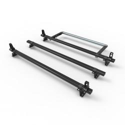 Ford Transit Custom Dmar Stealth 3 bar Aluminium roof rack load stops & roller (DM86LS+A30)