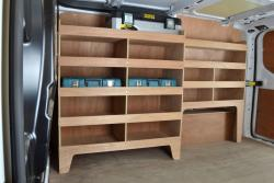 Transit Custom Plywood Offside van racking / Shelving unit - WRK53.59