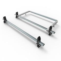 Transit roof rack bars - 2 bar + roller + load stops 2014 onwards (AT123LS+A30)