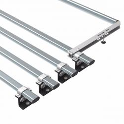 Transit roof rack bars - 4 bar + roller 2014 onwards (AT125+A30)