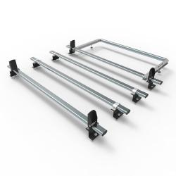 Transit roof rack bars - 4 bar + roller + loadstops 2014 onwards (AT125LS+A30)