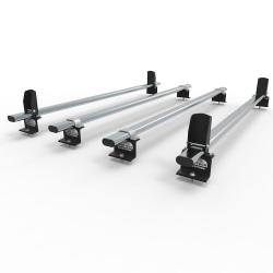 Transit roof rack bars - 4 bar with load stops 2014 onwards (AT125LS)