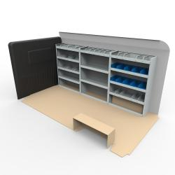 Vauxhall Movano LWB Steel Van Racking - Extra Tall Shelving Package - HSK5.6.13