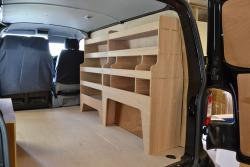 VW Transporter T5 & T6 Plywood Van Racking-Shelving Package - WRK33.35