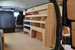 VW Transporter T5 & T6 Plywood Van Racking-Shelving Package - WRK34.35