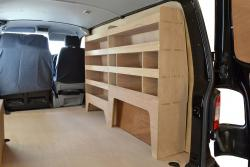 VW Transporter T5 & T6 Plywood Van Racking-Shelving Package - WRK37.39