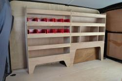VW Transporter T5 & T6 Plywood Van Racking-Shelving Package - WRK38.39
