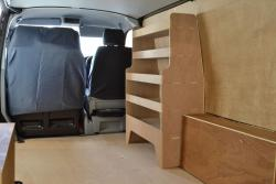 Volkswagen VW Transporter T5 & T6 Plywood Van Racking-Shelving Unit - WR33