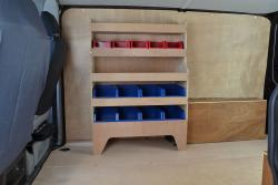 Volkswagen VW Transporter T5 & T6 Plywood Van Racking-Shelving Unit - WR34