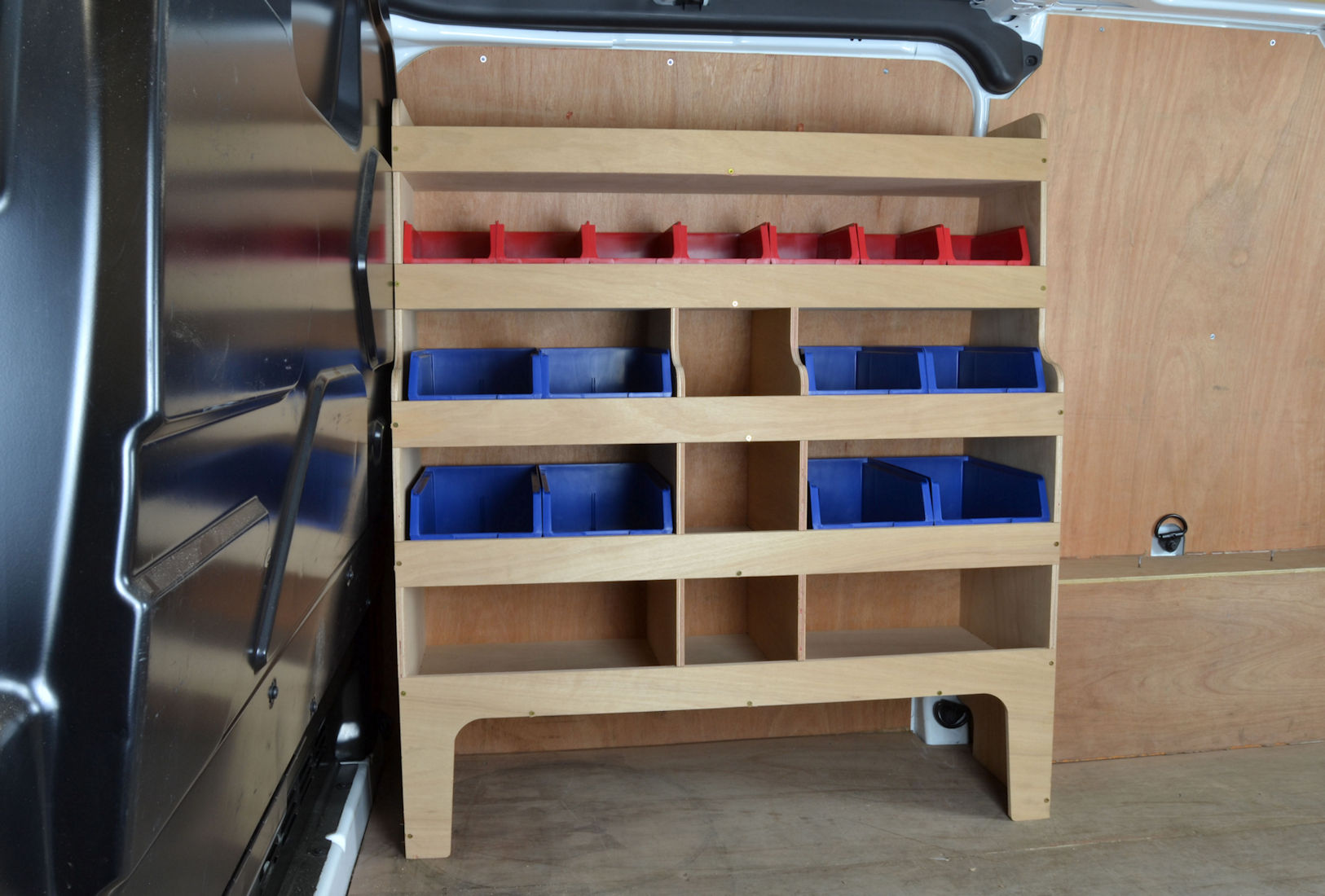 Transit Custom Plywood Van Racking Shelving Unit Wr56