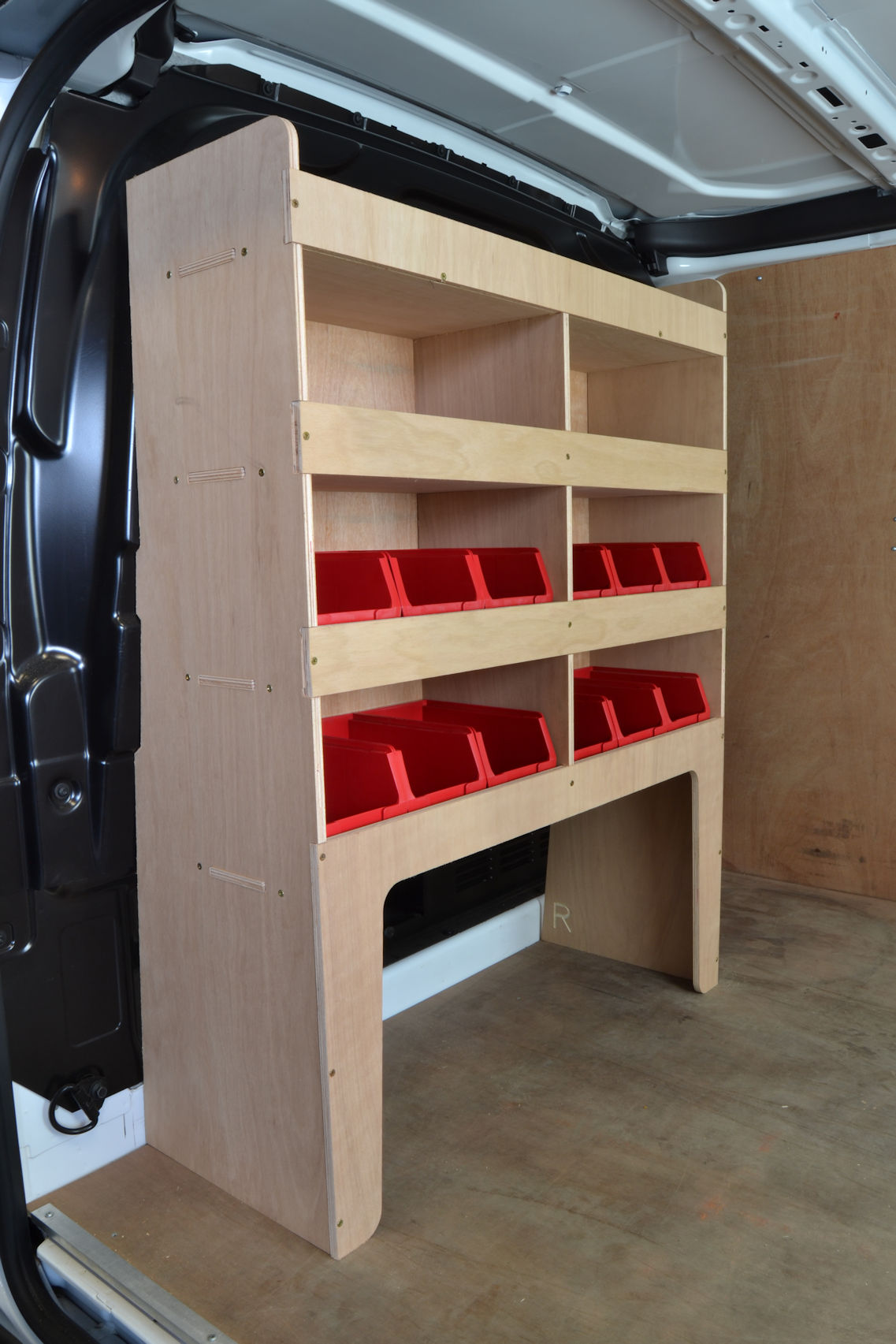 Transit Custom Plywood Van Racking Shelving Unit Wr58