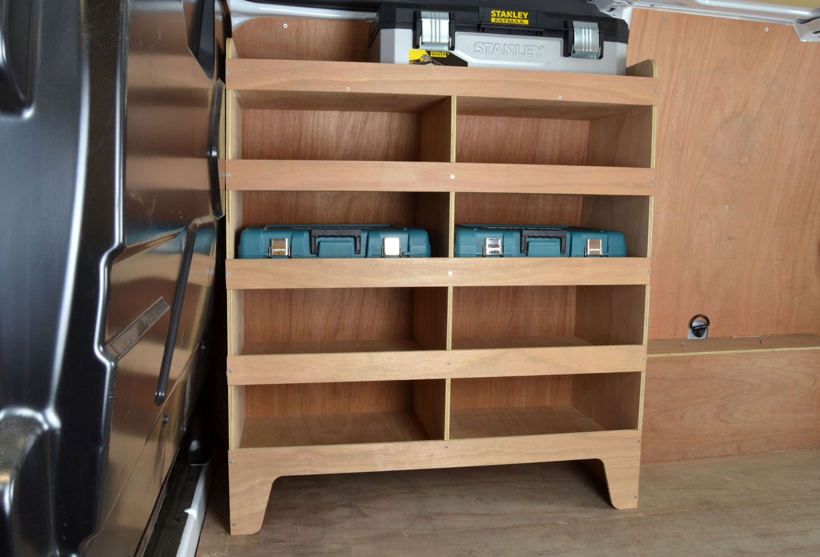 Transit Custom Plywood Van Racking Shelving Unit Wr59