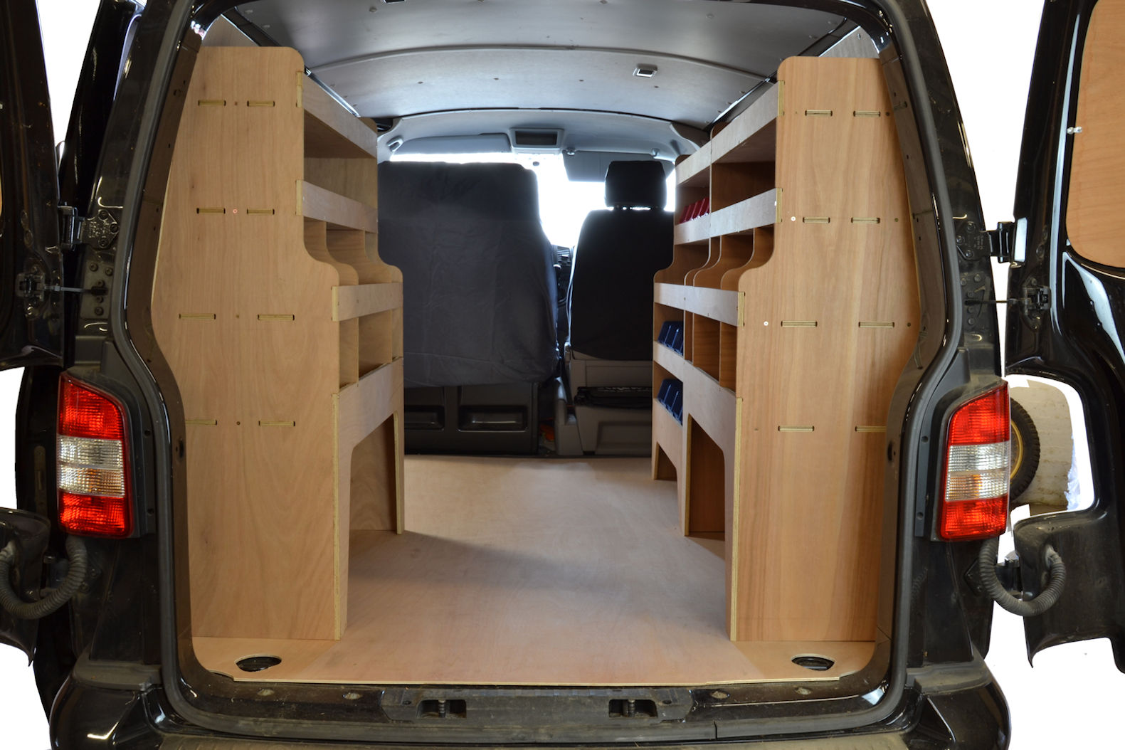 Van Roof Racks >> VW Transporter T5 & T6 Plywood Van Racking-Shelving Package - WRK33.35.35